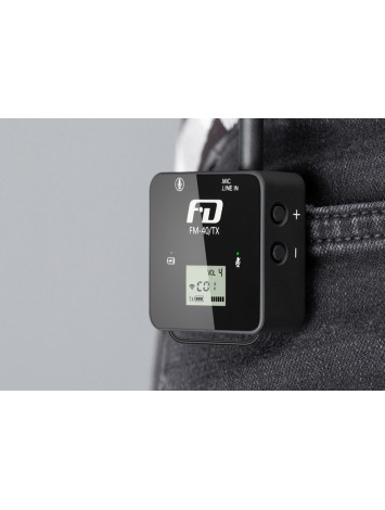 Feidu FM40 Mini Wireless Microphone, True Diversity, 80M/265ft Range, Half-Hidden Antennas, For Camera Smartphone Vlogger YouTube Filmmaking Interview