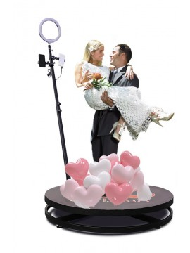 2.5ft Factory Sale Wedding Portable 360 Degree Video Booth Spinner Degree Camera Photo Booth 360 For Product Launch