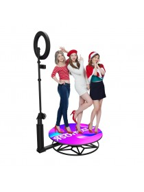 2.5ft Remote Control Wireless Slow Motion Portable Revolve Selfie 360 Spinner Degree Photo Booth 360 Video Booth Machine Video Spinny