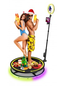2.5ft Video Spinny Fully Automatic 360 Spinner Photo Booth Portable Slow Motion 360 Video Machine
